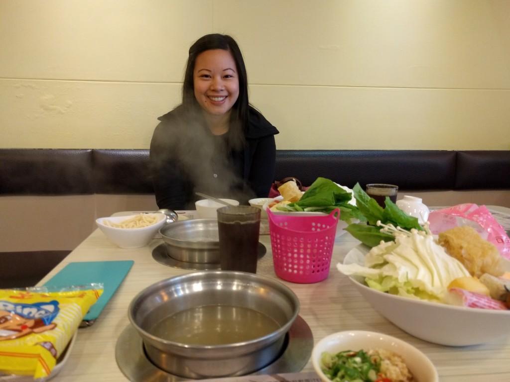 At the shabu shabu restaurant
