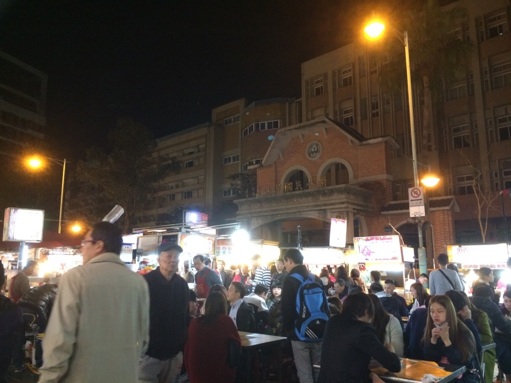 Ningxia Nightmarket is located right outside an elementary school