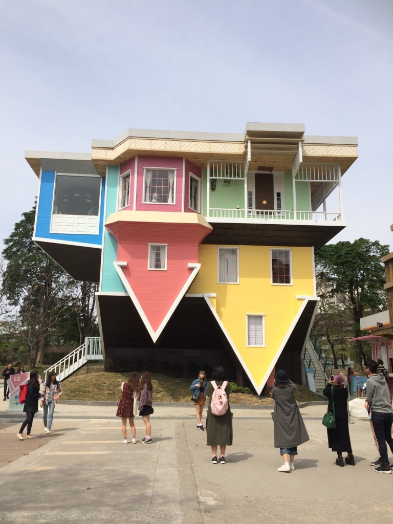 Upside down house exhibit. You can pay 200 NT or $8 CAD to go inside