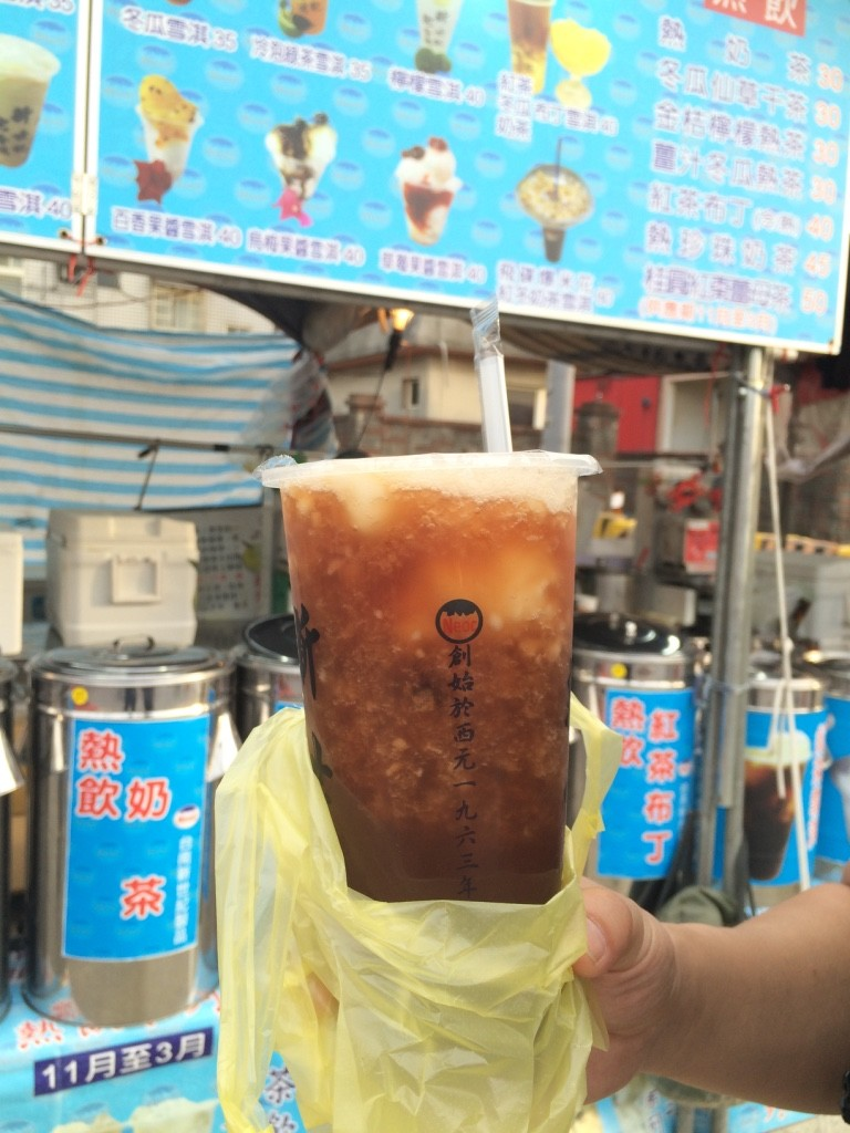 Black tea with sweet slush inside (35 NT = $1.40 CAD)
