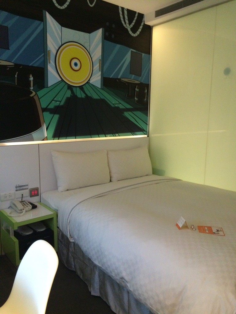 Our room at the CityInn Hotel Plus Taichung Station Branch ($68 CAD on Expedia)