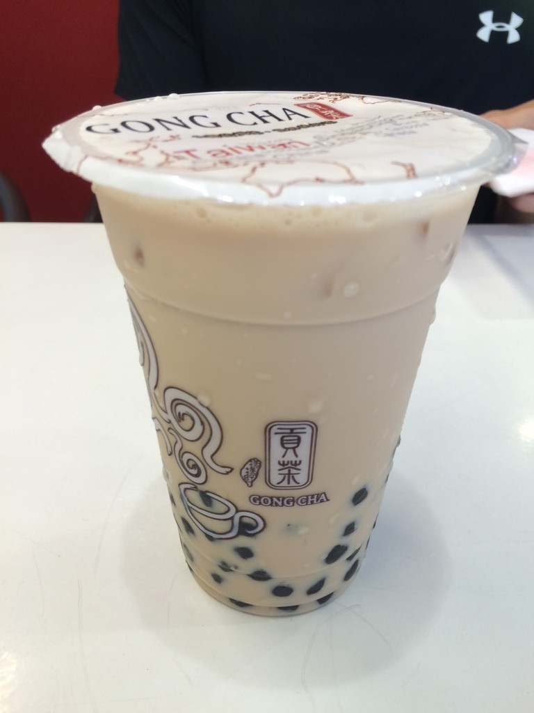 Pearl milk tea (35 NT = $1.40 CAD). The one in NY was $3.50 USD