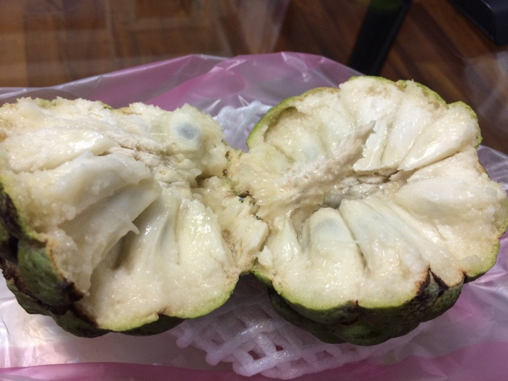 Inside the custard apple