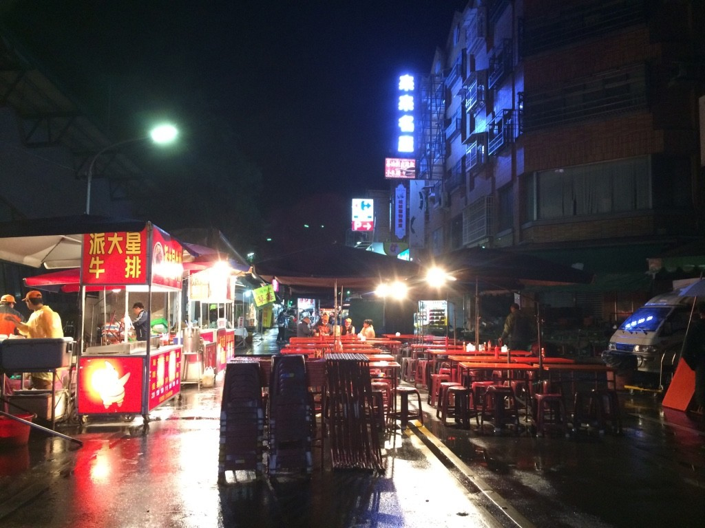 Deserted night market