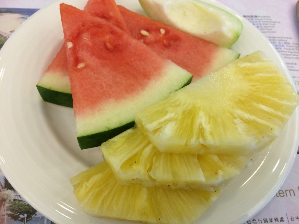 My fruit plate at breakfast