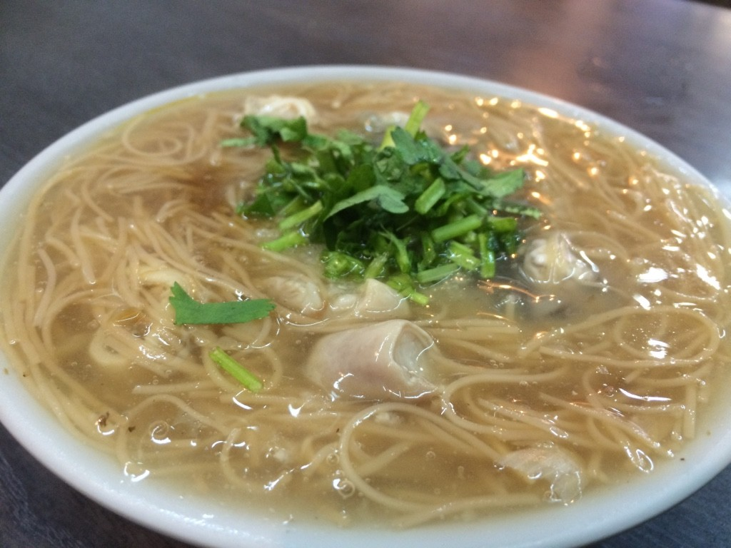 Oyster vermicelli (45 NT = $1.80 CAD)