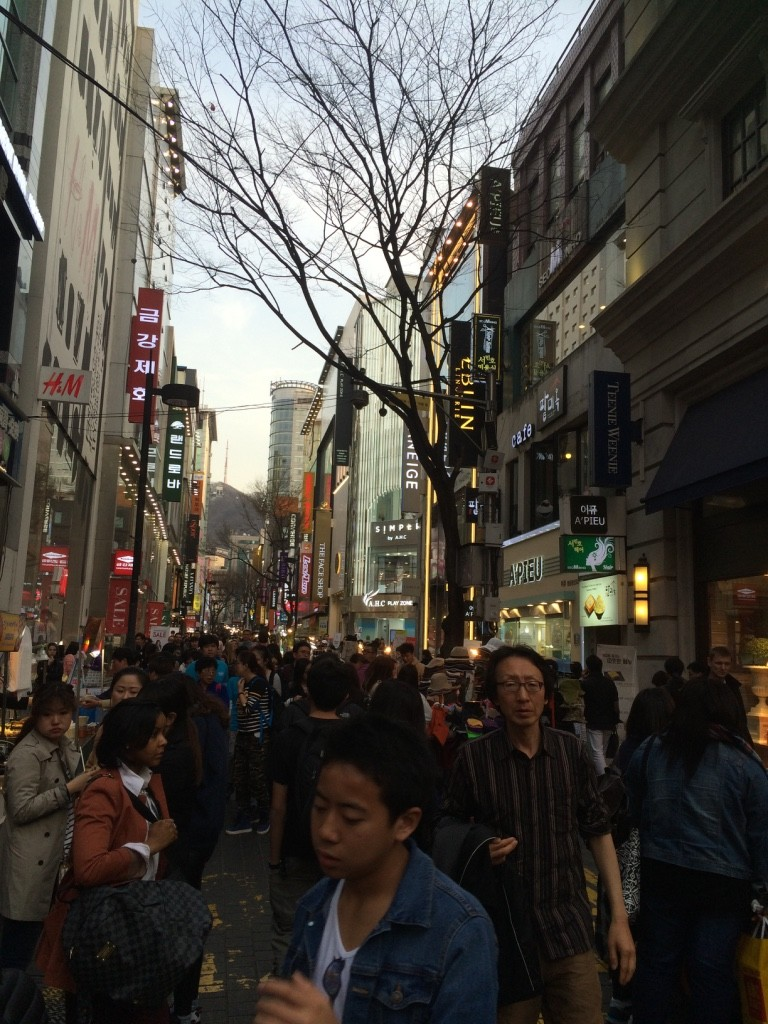 Busy streets of Myeongdong
