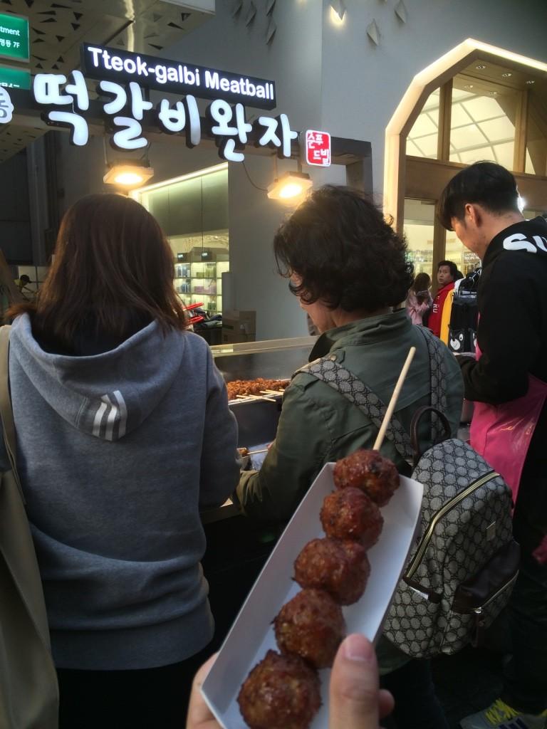 Kalbi meatballs (3000 KRW = $3.40 CAD)