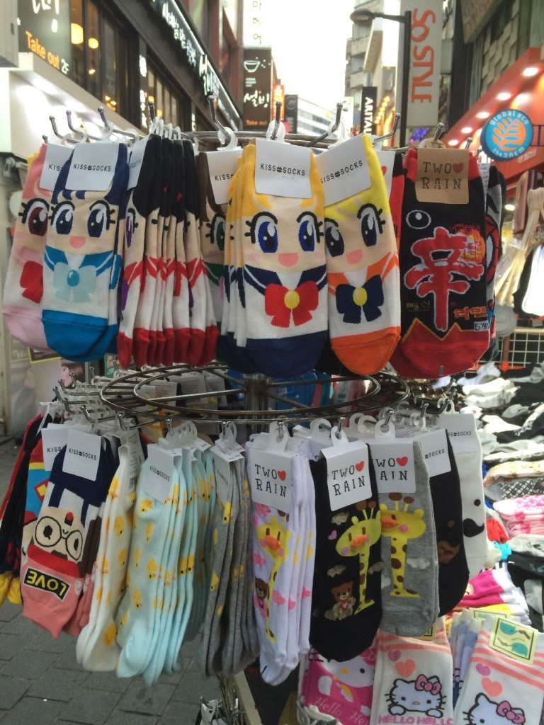 Korean socks! 1000 KRW each = $1.15 CAD (buy 10 get 1 free) I'll be back...
