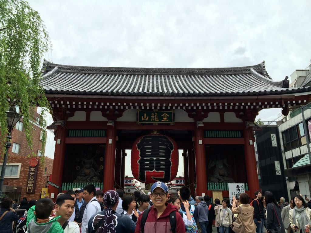 At the entrance of Senso-Ji Temple