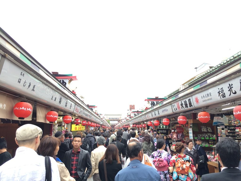 There's a stretch of souvenir shops leading up to the shrine. It was very packed.
