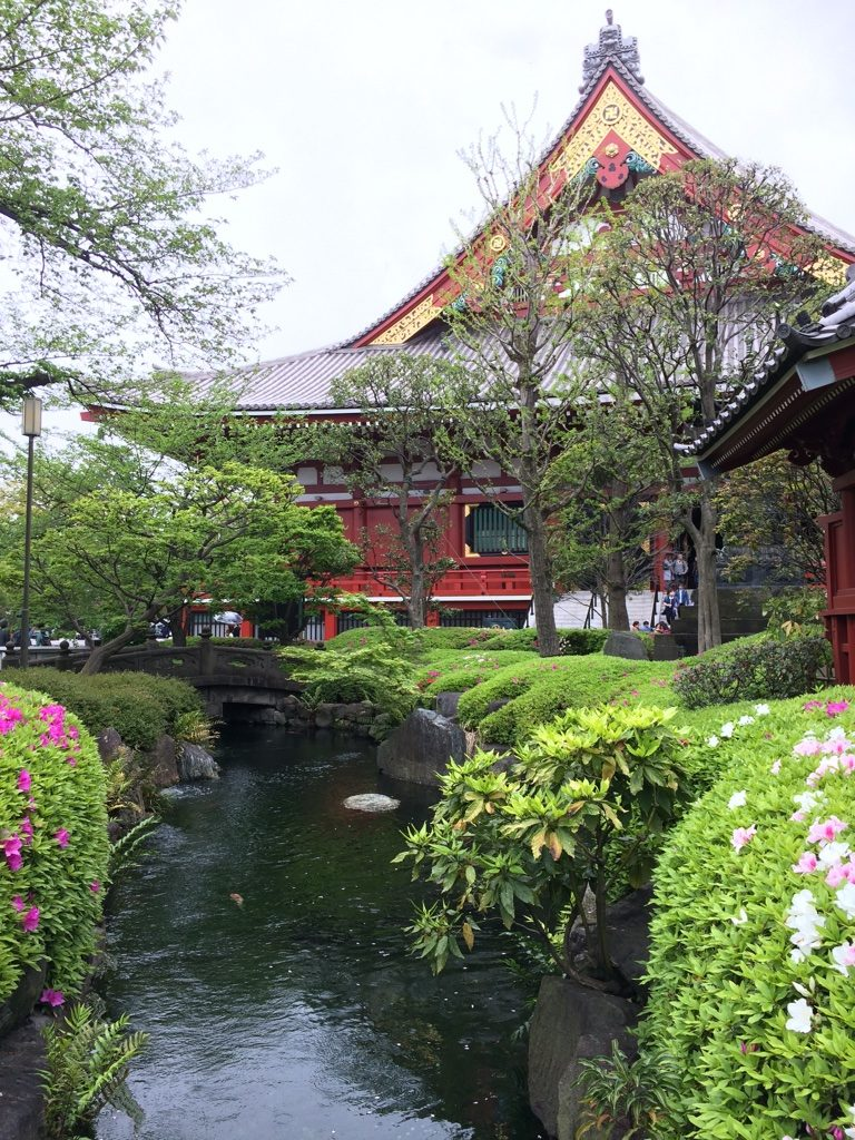 Nice garden beside Senso-Ji Temple