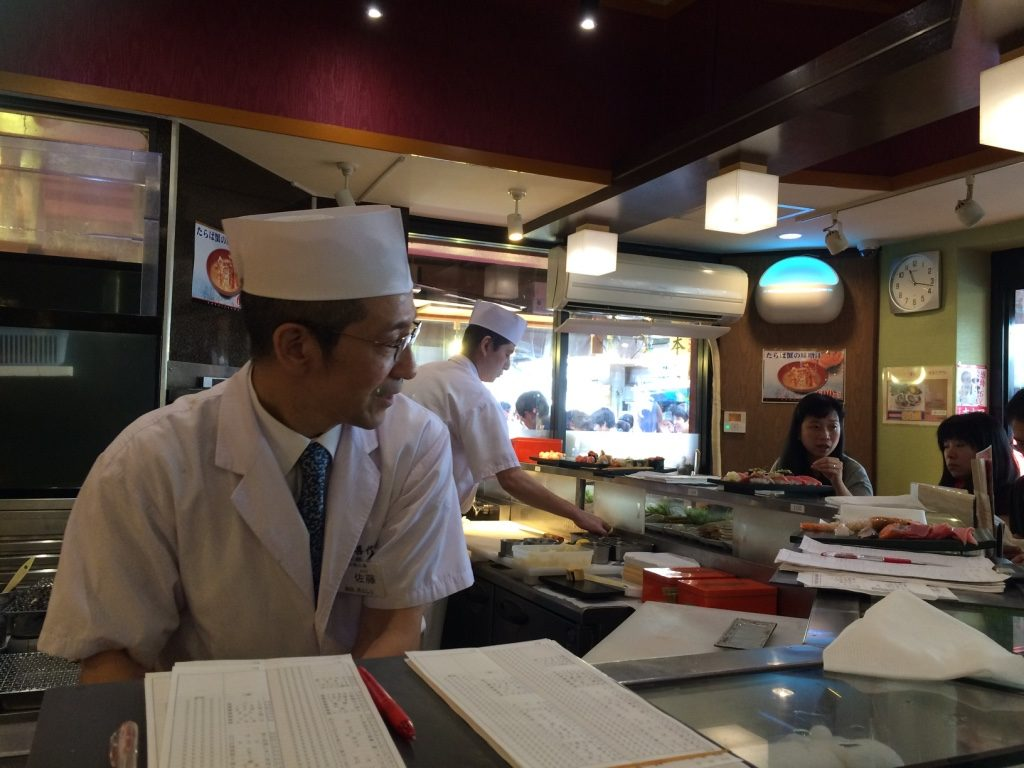 Our friendly sushi chef