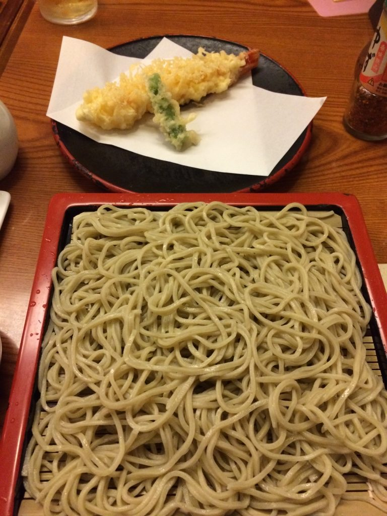 My soba set for 1,930 JPY = $21.80 CAD