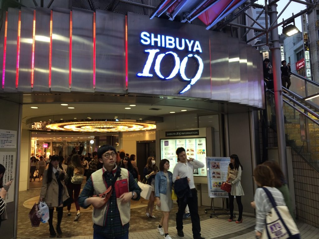 Entrance of Shibuya 109 Women's Store