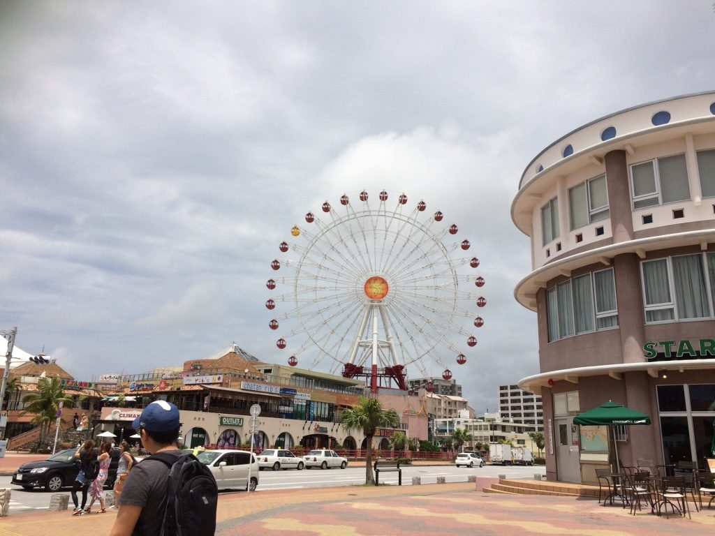 We found the American Village. Hard to miss with the ferris wheel.