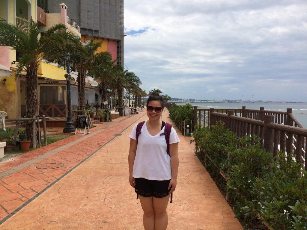 Walking along the seawall