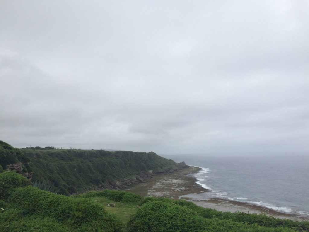 View of the ocean from the memorial