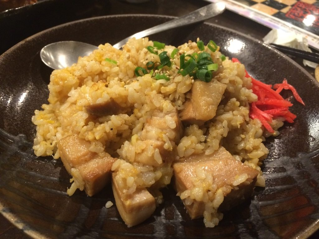 Pork belly fried rice. Tim's favourite dish. (699 JPY = $8.10 CAD)