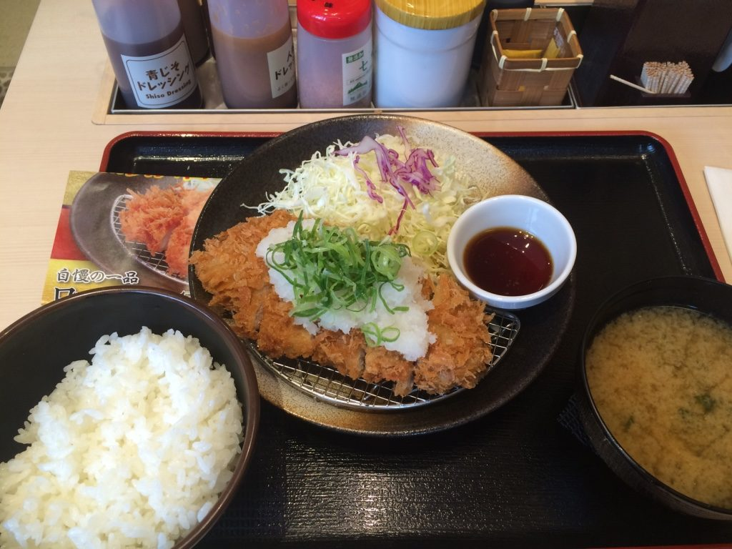 My tonkatsu with daikon set (500 JPY = $5.90 CAD)