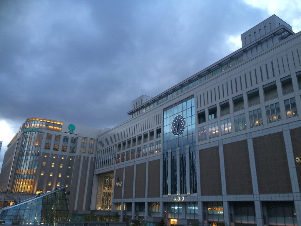 Sapporo Station at dusk