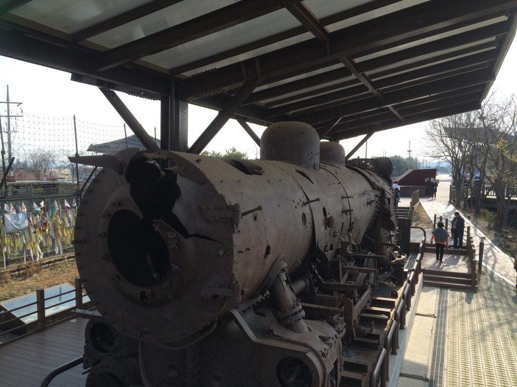 Steam locomotive was left in the DMZ after the Korean War after being derailed by bombs. It was on its way to North Korea to deliver war materials