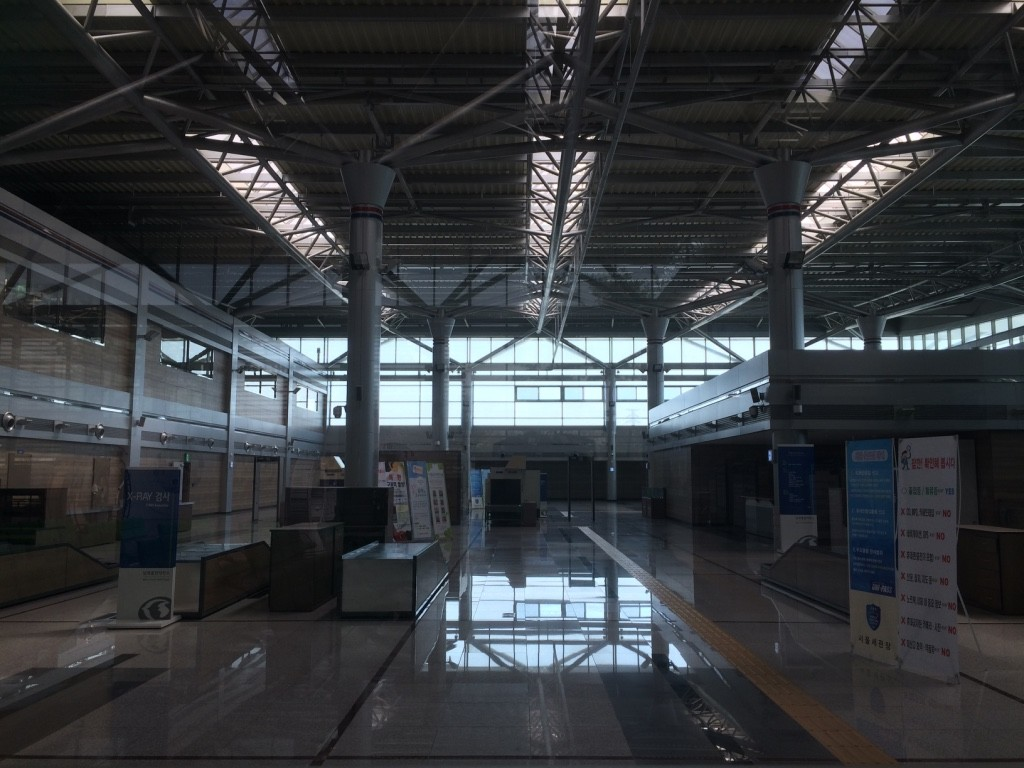 Security area at Dorasan station - deserted