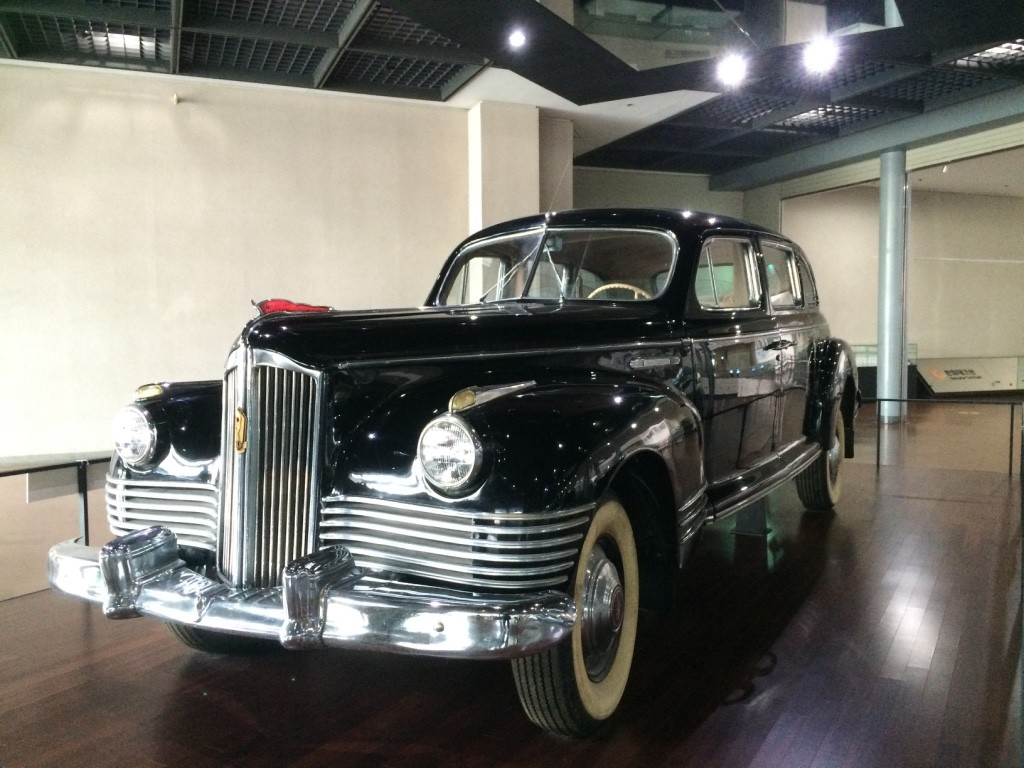 Kim Il-Sung (Kim Jong-Un's Grandfather)'s car given to him from the former USSR. After the war was over, South Korean's president gave the car to an American General's wife, whose husband died during the war. The car was found in New Jersey and was brought back to Seoul for display