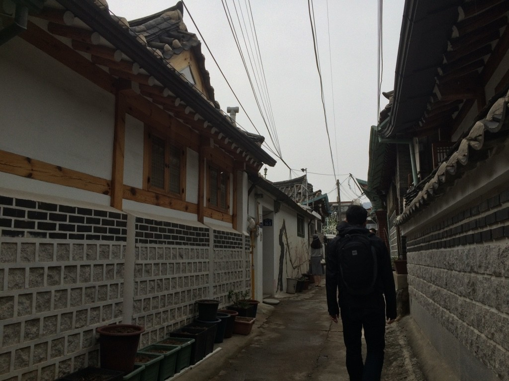 Narrow alleyways in Bukchon