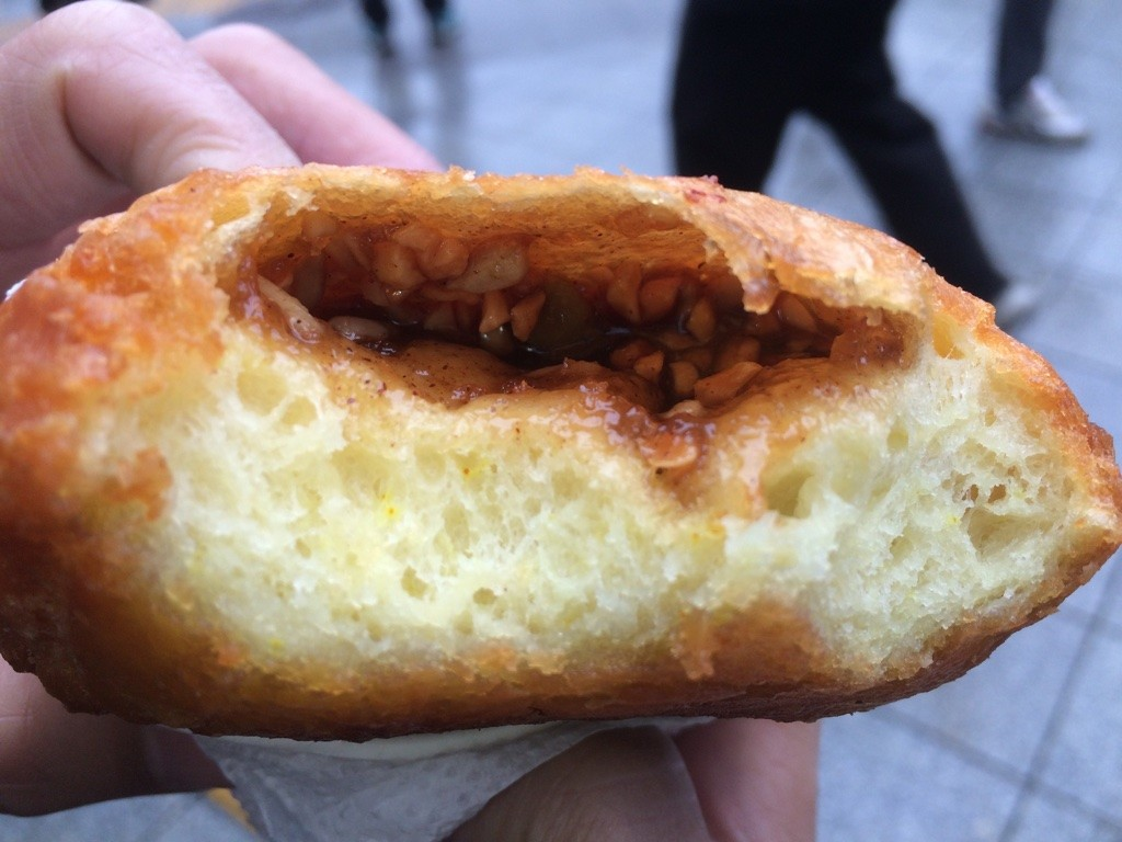 Our honey nut filled doughnut. This was my favourite thing we ate all day. It was steaming hot and the filling was a pleasant surprise - tasted like it had cinnamon in it, I can imagine it being perfect with some sliced apples