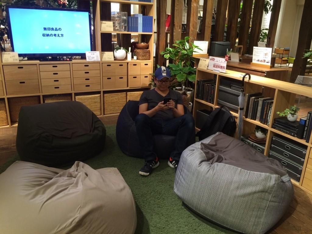 Tim Taking A Break At Muji