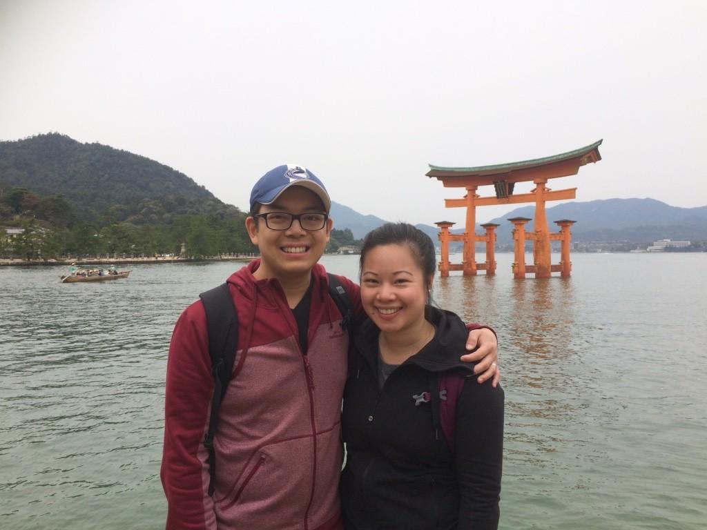 O-torii Gate at high tide