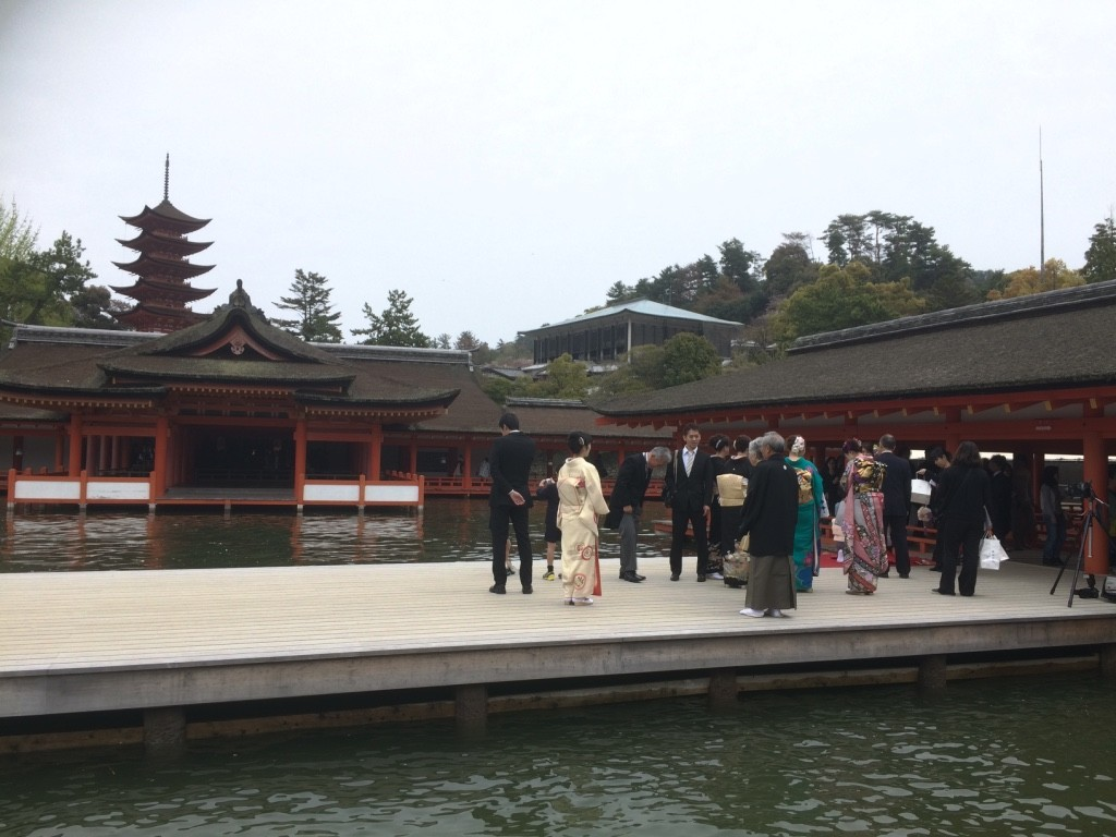 There was a wedding going on at the temple