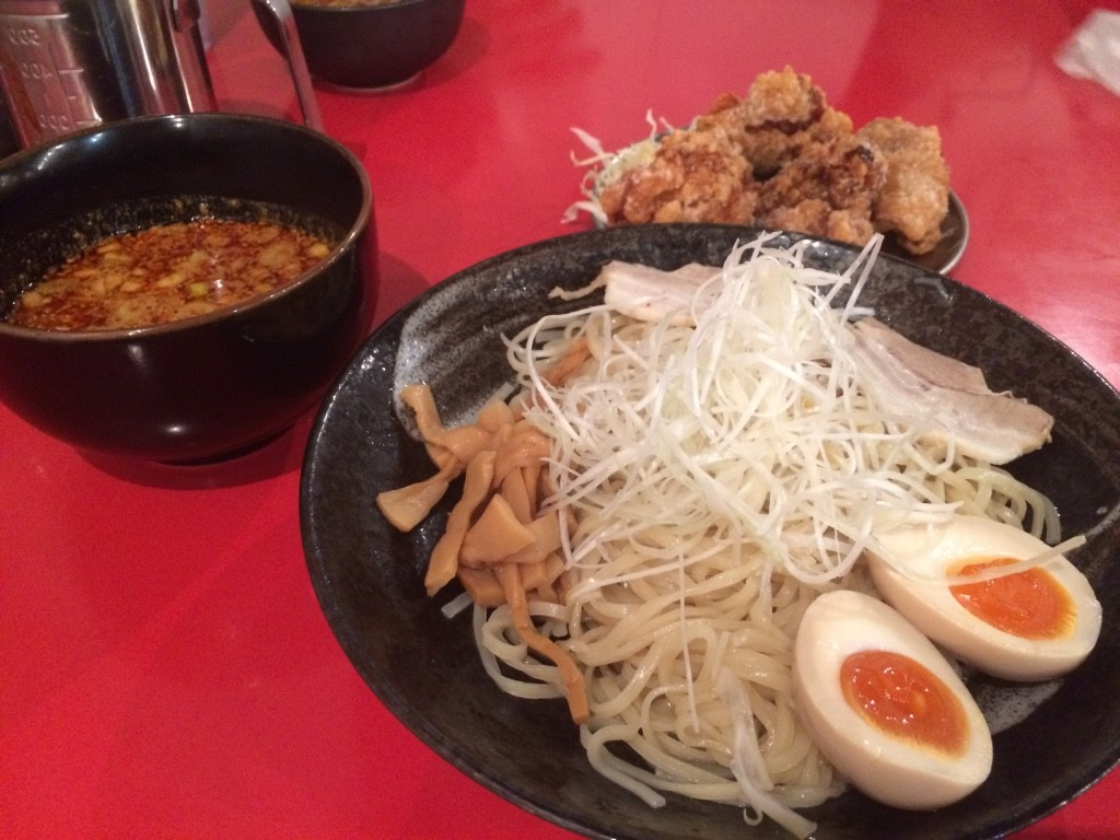 My hot tsukemen 823 JPY = $9.90 CAD