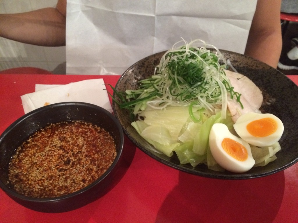 Tim's cold tsukemen, he added an egg so it was 890 JPY = $10.50 CAD
