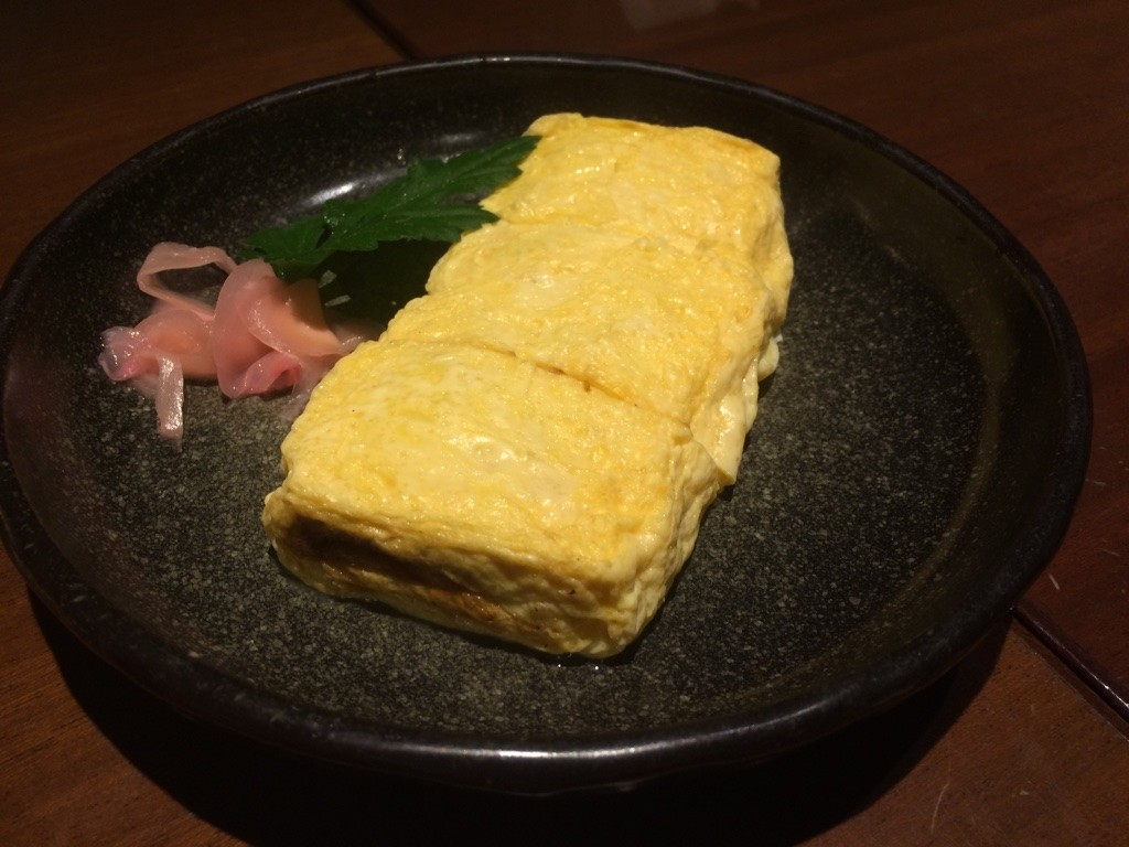 Tamago with unagi inside