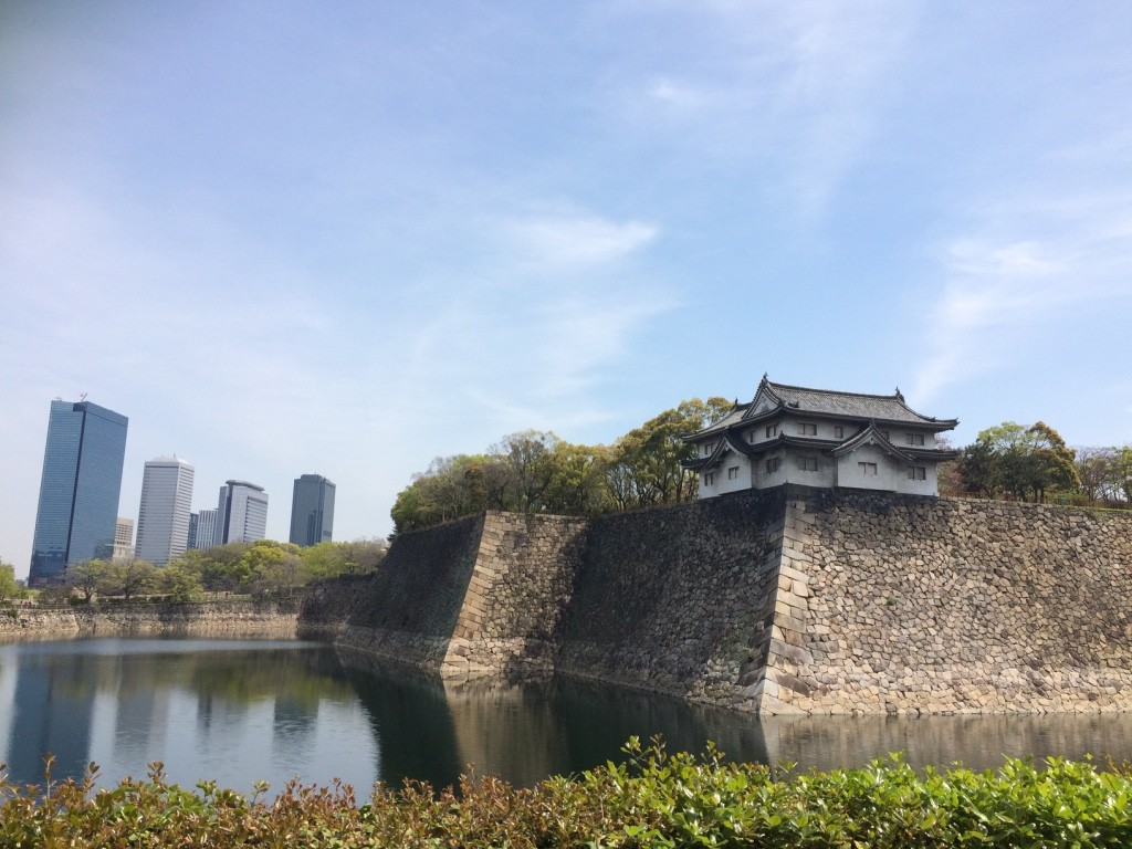 The new and old Osaka