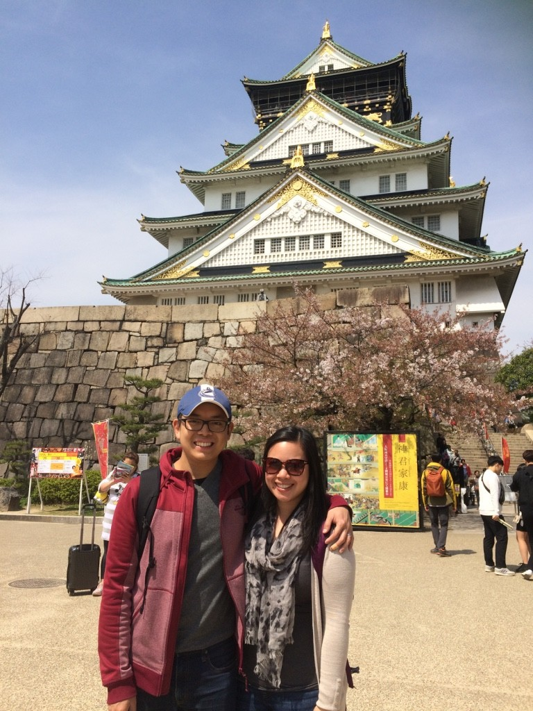 Us infront of Osaka Castle