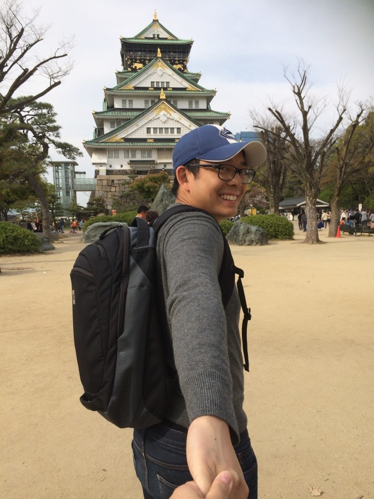 Following Tim to Osaka Castle :)