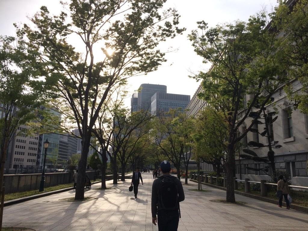 Beautiful walk in the city