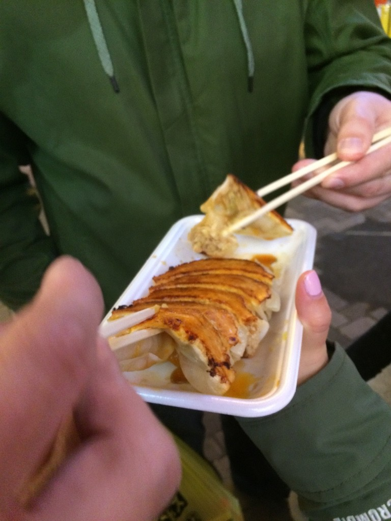 These gyozas were delicious. We shared 6 pieces for 240 JPY = $2.80 CAD