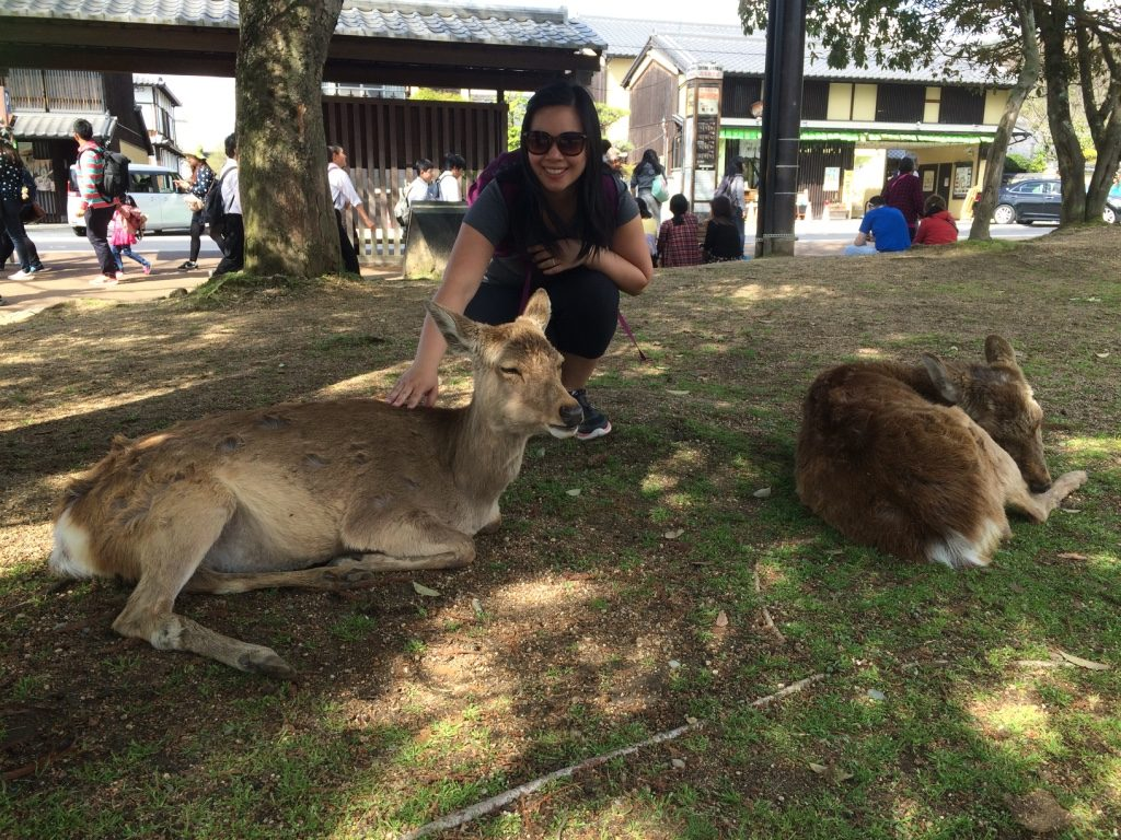With my first set of deer friends