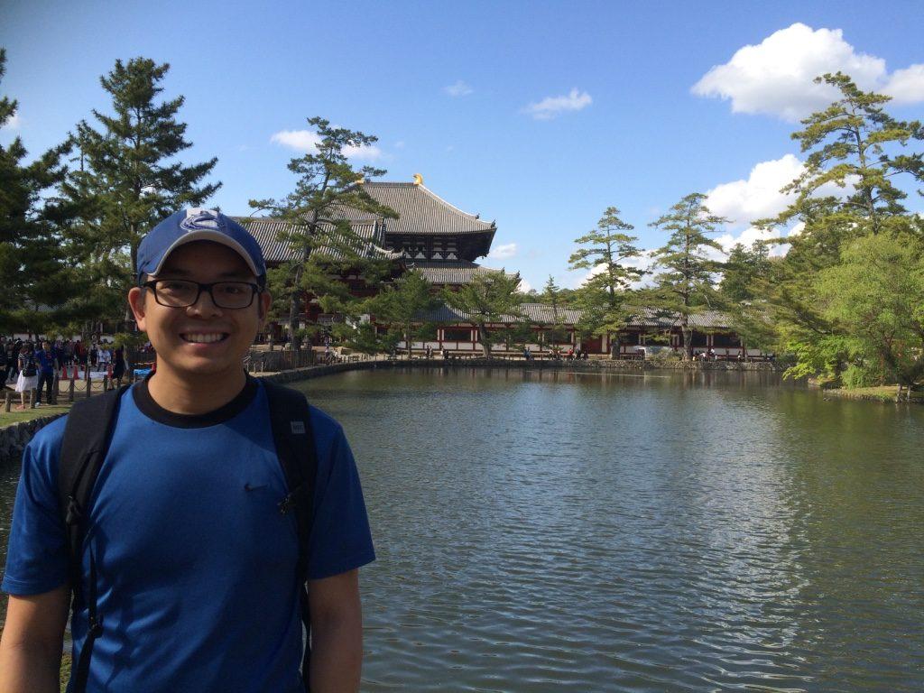 Nara Park close to the Todai-ji entrance
