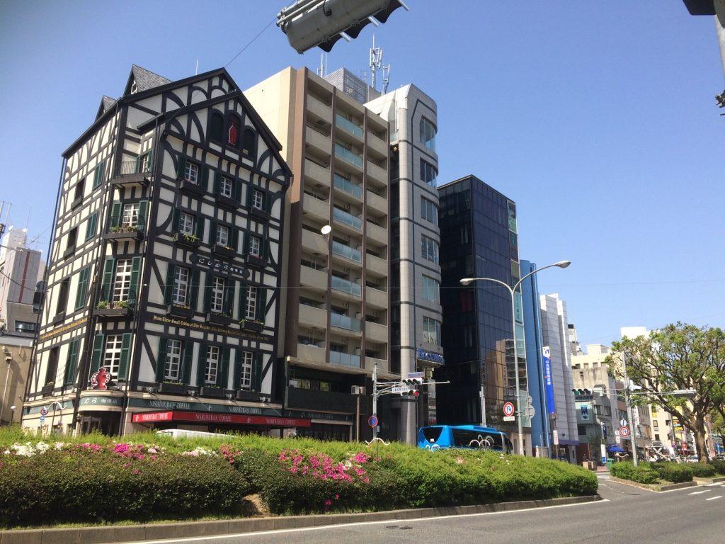 German looking building in Kobe