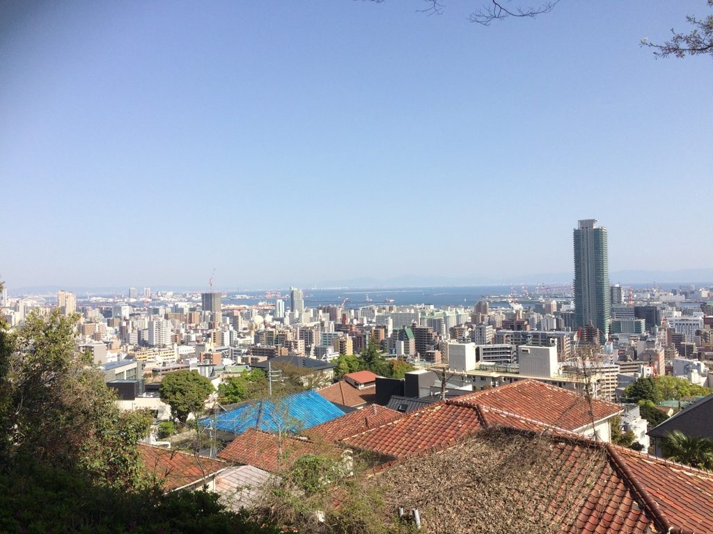 View of Kobe from the observation area