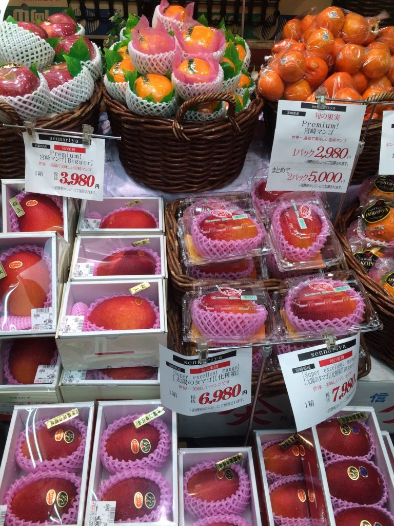 The mango better be heavenly for 6980 JPY = $82 CAD!