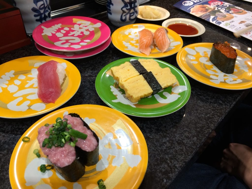 Some of our sushi. I ate some before taking a picture.