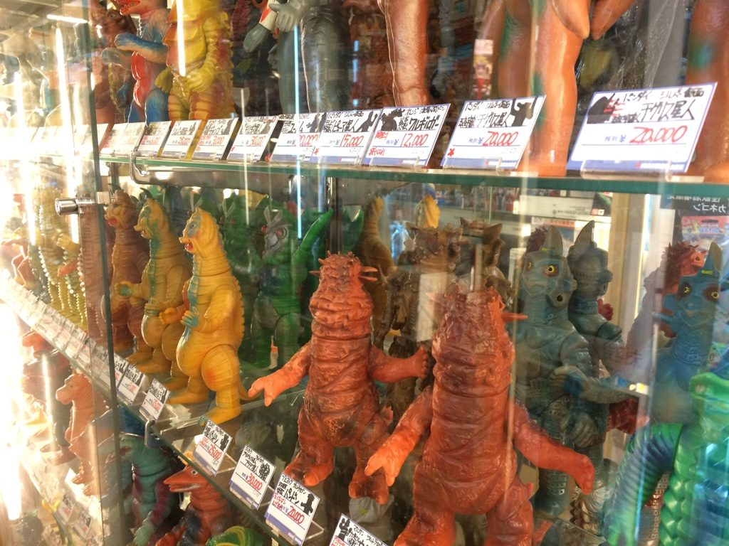 Godzilla toys at pretty hefty prices