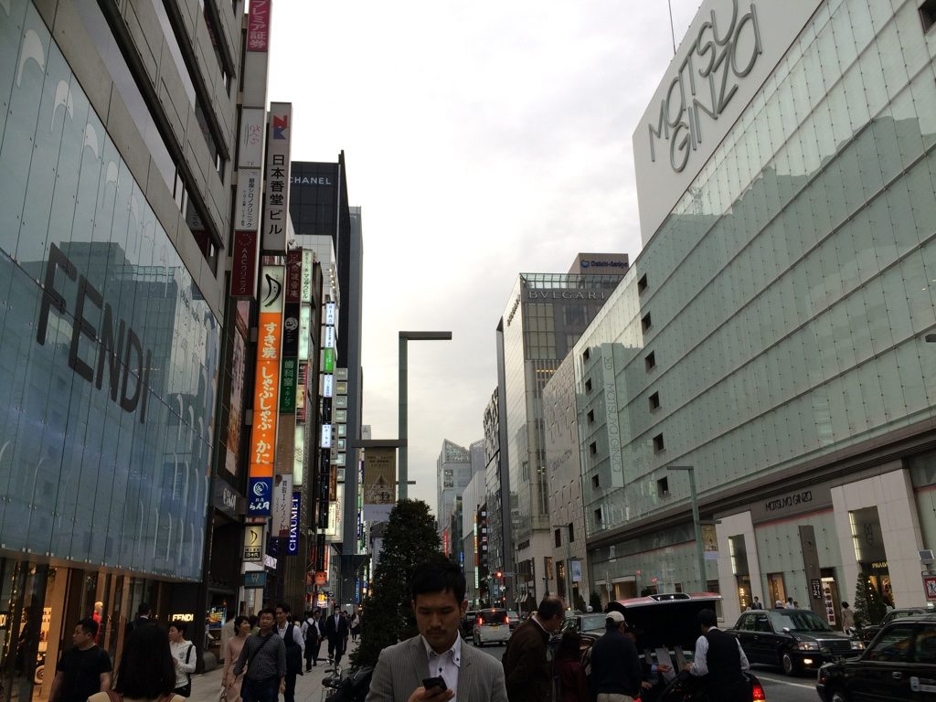 Shopping street in Ginza