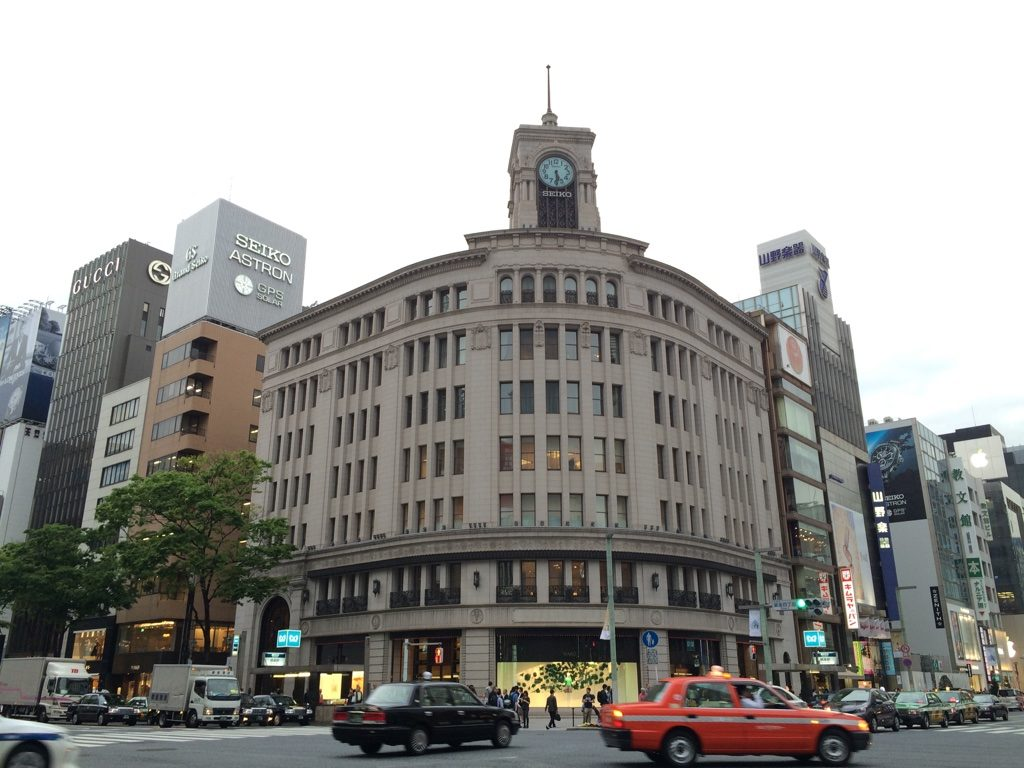 Famous Seiko building in Ginza